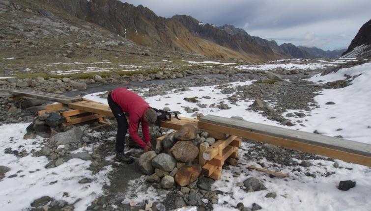 Nach dem Hochwasser mußten einiger Brücken neu errichtet weden