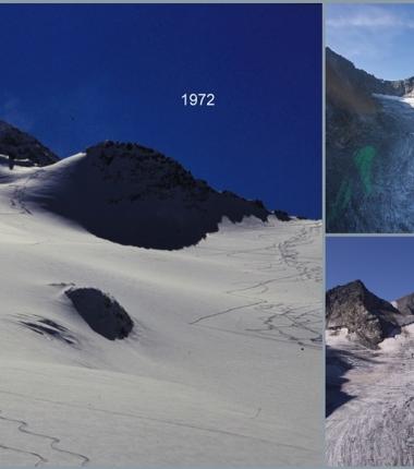 Gletscherrückgang ab 1972