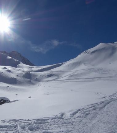 Am Aufstieg zum Alpeiner Ferner