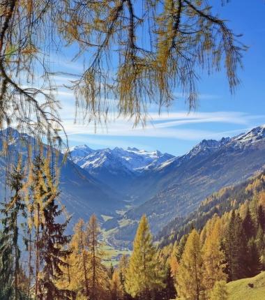Blick zum Zuckerhütl vom Weg zur Starkenburger Hütte