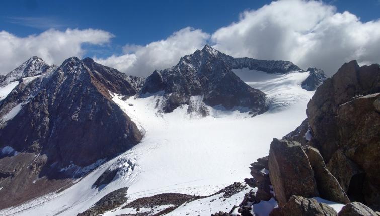 Blick von der Wildgratscharte zur Ruderhofspitze