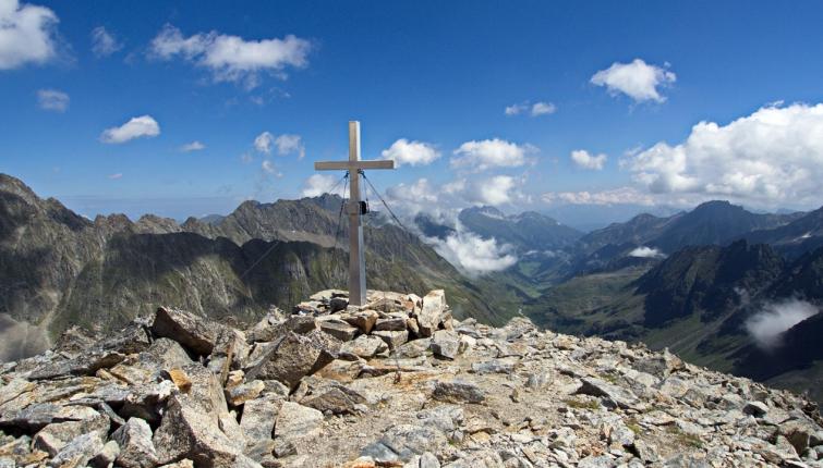 Am Gipfel das Aperen Turm 2984m