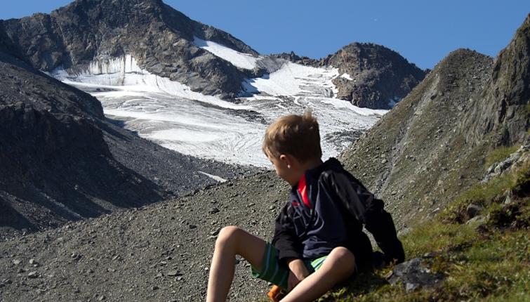 Sommerwandferner mit der Mittleren Kräulspitze