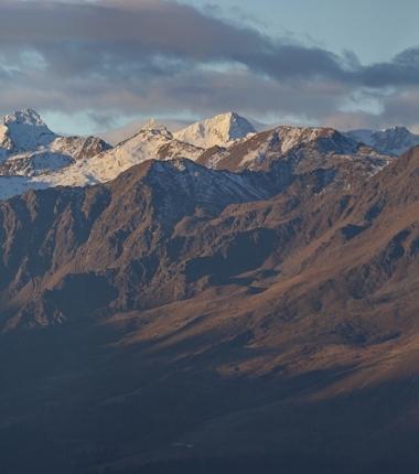 Lüsenser Fernerkogel  und Schrankogel, beides Gipfel im Bereich der Franz Senn Hütte