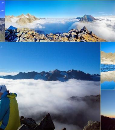 """Auf die Rinnenspitze gelangt man auf einen Bergweg der Kategorie schwarz, also die höchste Einstufung von Bergwegen! Der Gipfelaufbau kommt wohl einer """"alpinen Route"""" bezw. Klettersteig näher als einem schwarzen Bergweg!"""