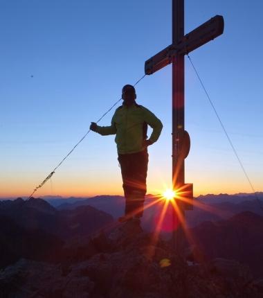 Sonnenaufgang auf der Rinnenspitze