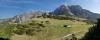 Die Hütte mit Erl und Kuhljochspitze